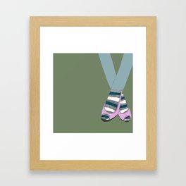 Socks and shoes Framed Art Print