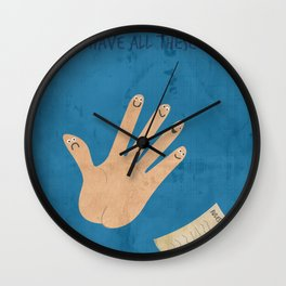 Rules Of Thumb Wall Clock