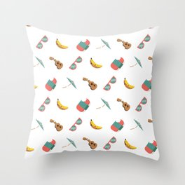 Ever so slightly dingy Hawaii Throw Pillow