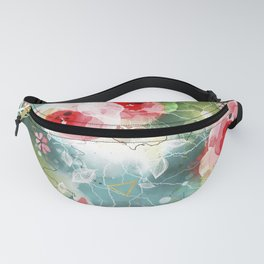 Abstract painting nature and geometric Fanny Pack
