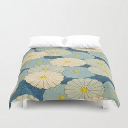 Shin-Bijutsukai – Japanese Design Blue Floral Pattern Duvet Cover