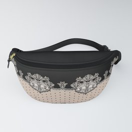 Dakota Black Lace Fanny Pack
