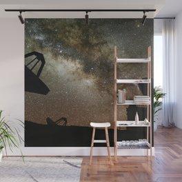 Radio Telescopes and Milky Way Wall Mural