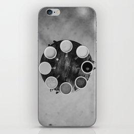 Coffee Circle (Black and White) iPhone Skin