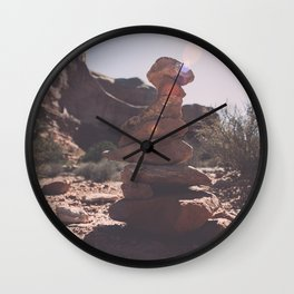 Trail Markers in Arches National Park Wall Clock