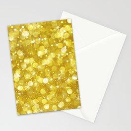 Super Glan Gold Glitter Bokeh Style Stationery Cards