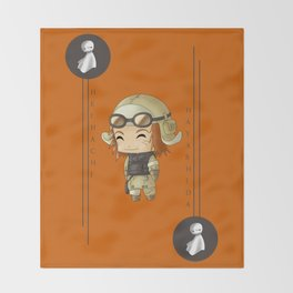 Chibi Heihachi Throw Blanket