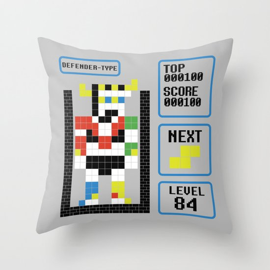 TETRIS: Defender Type Throw Pillow