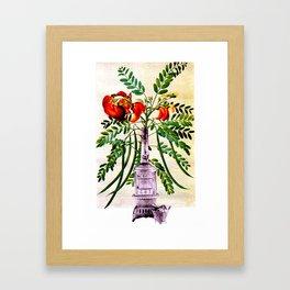 Blooming Stove Framed Art Print