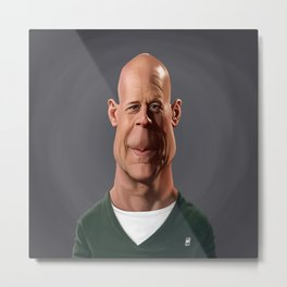 Celebrity Sunday - Bruce Willis Metal Print