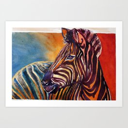 The zebra Art Print