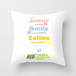 {CAT} SOMRIU · SOMIA · ESTIMA Throw Pillow
