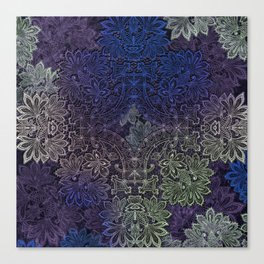 lace weave in deep blues Canvas Print