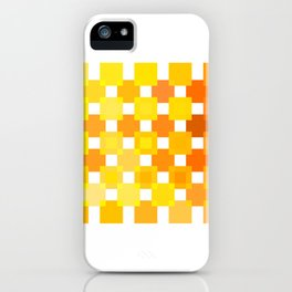 50 Squares of YELLOW - Living Hell iPhone Case