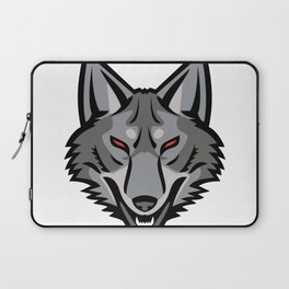 Gray Coyote Head Mascot Laptop Sleeve