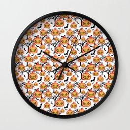Pumpkinhead Pattern Wall Clock
