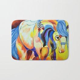 Native American Horse Bath Mat