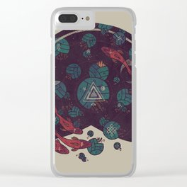 Amongst the Lilypads Clear iPhone Case