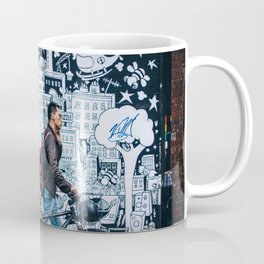 MAN - BIKE - STREET - ART - PHOTOGRAPHY Coffee Mug
