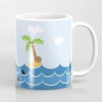 pirate ship Mugs featuring PIRATE SHIP (AQUATIC VEHICLES) by Alapapaju