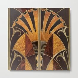 art deco wood Metal Print