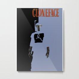 Cloneface Metal Print