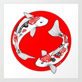 Japanese Kois Art Print