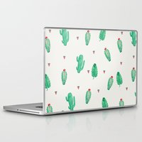 cactus Laptop & iPad Skins featuring CACTUS by Ceren Aksu Dikenci