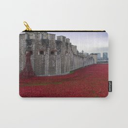 Tower of London Red Poppies England Carry-All Pouch