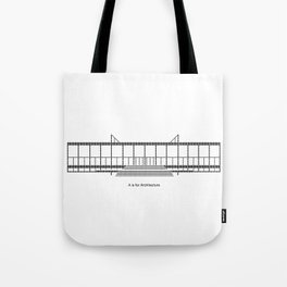 Mies - A is for Architecture Tote Bag