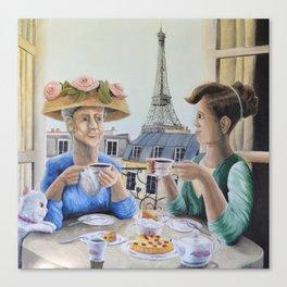 Tea Time in Paris Canvas Print