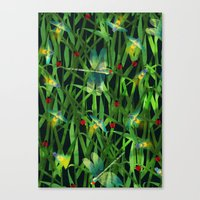 fireflies Canvas Prints featuring fireflies by kociara