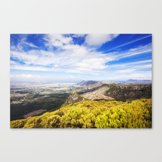 View of Silvermine and False Bay Canvas Print