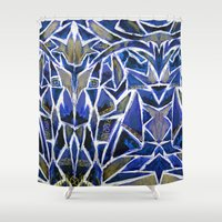 cracked Shower Curtains featuring Cracked by Lachlan Willis