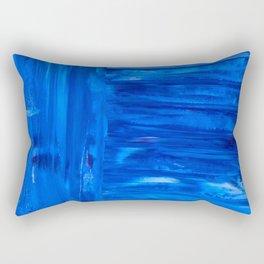 blue canvas azul Rectangular Pillow