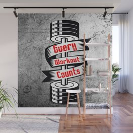Every Workout Count Inspiring Gym Typography Quote Wall Mural