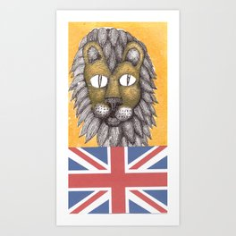 British Lion Art Print