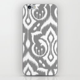 Ikat Damask Gray iPhone Skin