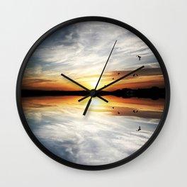Reflecting Sunset - 3 Wall Clock