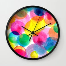 Confetti paint TWO Wall Clock