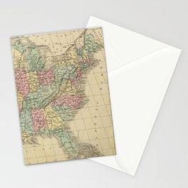 Vintage Map of The United States (1864) Stationery Cards
