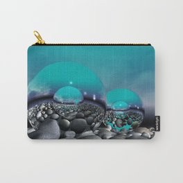 refraction of light - turquoise Carry-All Pouch