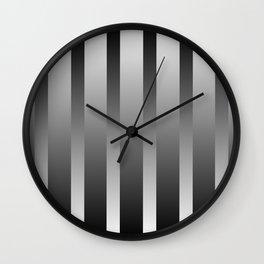 Chrome Stripes Wall Clock
