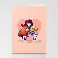 powerpuff girls Stationery Cards featuring PowerPuff  by Mickey Spectrum