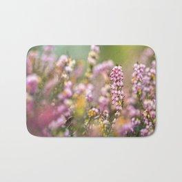 Pink Heather Flower Bath Mat