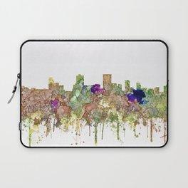 Anchorage, Alaska Skyline - Faded Glory Laptop Sleeve