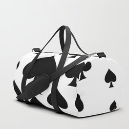 LOTS OF DECORATIVE BLACK SPADES CASINO ART Duffle Bag