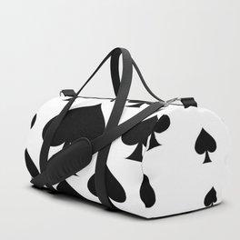 LOTS OF DECORATIVE BLACK SPADES CASINO ART Duffle Bag