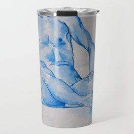 Monochrome Despair - watercolour human anatomy Travel Mug