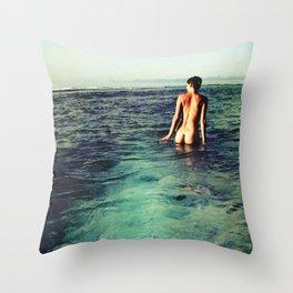 Nude Ocean Throw Pillow